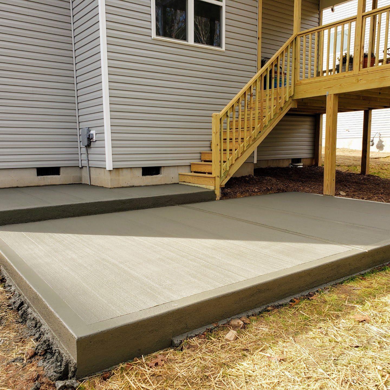 Concrete Patio Installation Amp Repair Aj Concrete